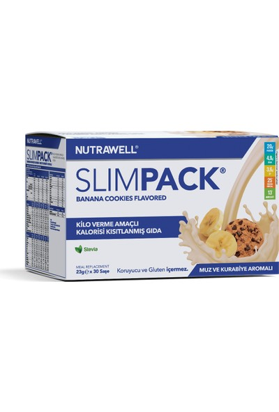 Slimpack Muz-Kurabiye (Banana Cookies) Aromalı 23g x 30 saşe
