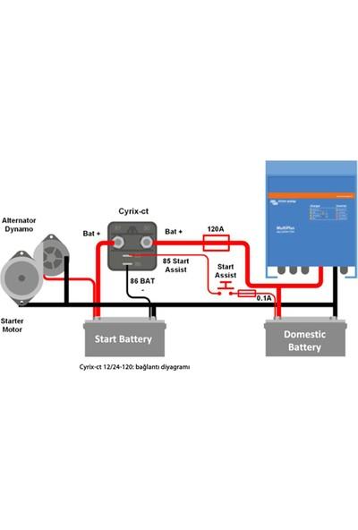 Victron Cyrix-Ct 12-24-120A Akıllı Akü Birleştirici