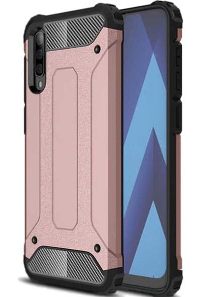 Coverzone Xiaomi Mi 9 Lite Shockproof Zırh Crash Silikon Kılıf Bakır
