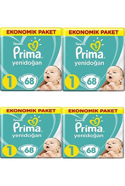Prima Aktif Bebek Yenidoğan 1 Beden Ekonomik 68 x 4 272'li Bebek Bezi