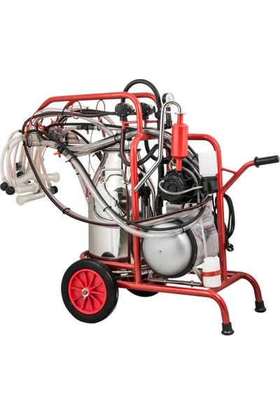 Kurtsan Dörtlü Yağlı Keçi Sağım Makinası Krom Güğüm 40LT