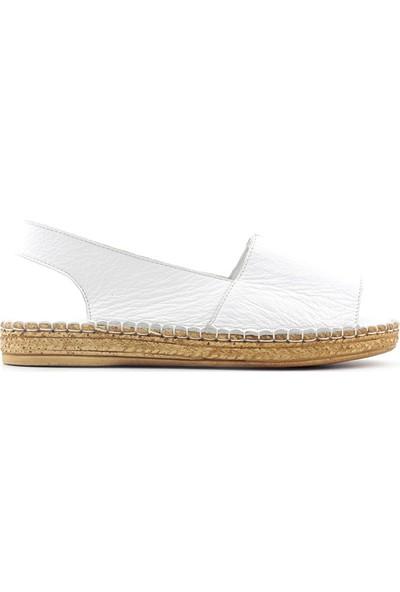 Meldymoor 1035 Hakiki Deri Kadın Sandalet
