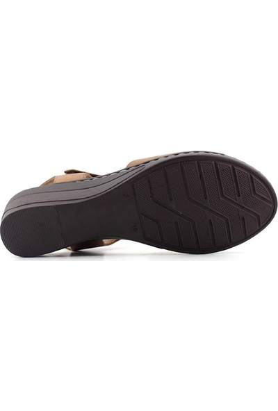 İz 416 Hakiki Deri Kadın Sandalet