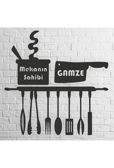 Karaçam Dekor İsme Özel - Dekoratif Tasarım Ahşap Mutfak Tablosu