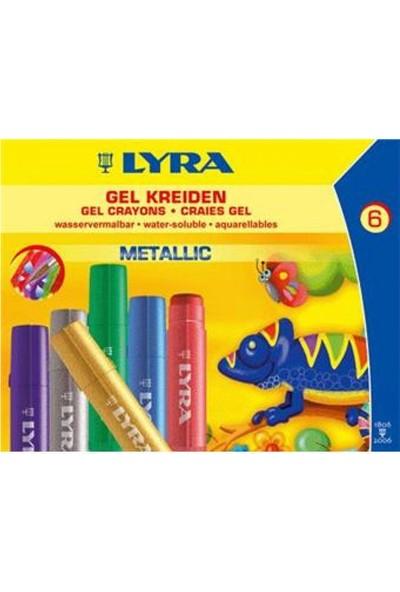 Lyra Jel Mum Boya Metalik Renkler 6'lı Karton Kutu