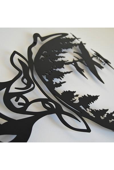 Trigou Deer Forest Metal Tablo