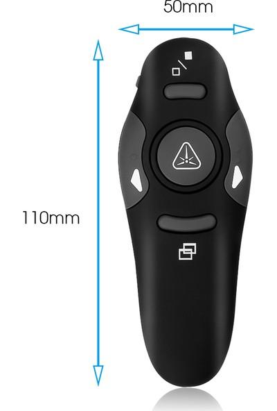 Alvepa 2.4GHz USB Kablosuz Kırmızı Lazer Sunum Kumandası