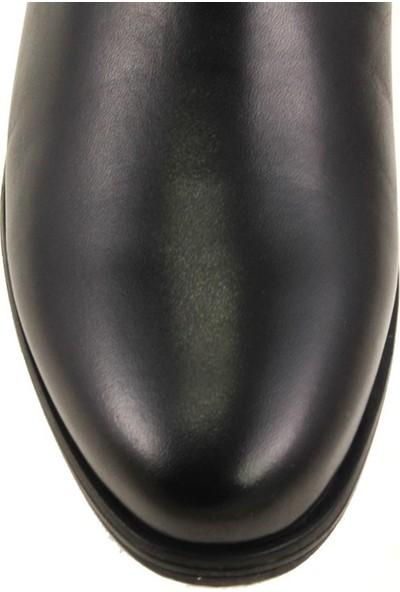 Forelli 25352 Kadın Siyah Deri Comfort Bot