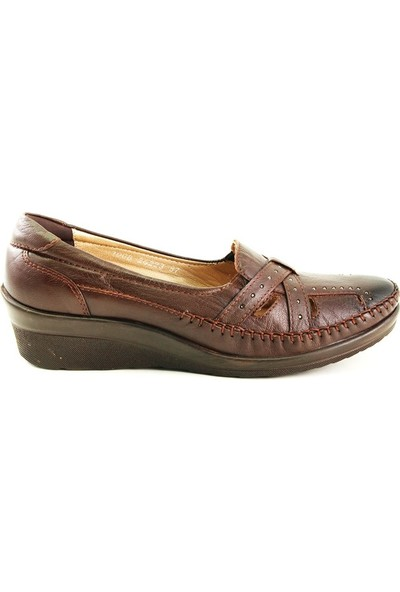 Forelli 26223 Kadın Kahve Deri Comfort Ayakkabı
