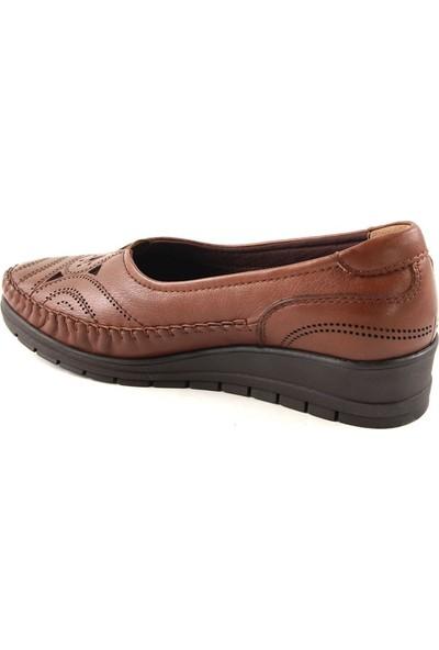 Forelli 25110 Kadın Deri Taba Anatomik Ayakkabı
