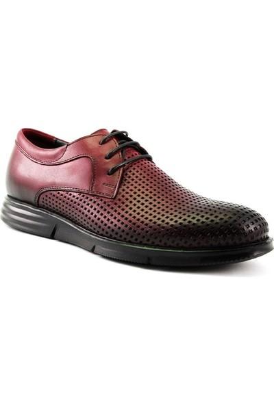 Forelli 42501 Erkek Bordo Deri Comfort Ayakkabı