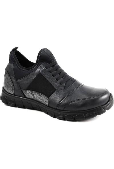 Forelli 61052 Kadın Siyah Deri Spor Ayakkabı