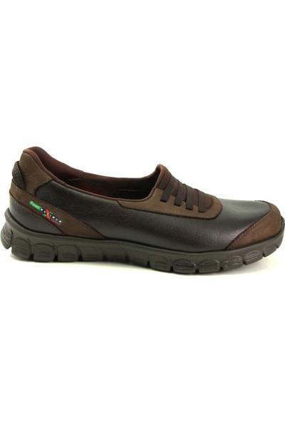 Forelli 61007 Kadın Kahve Deri Comfort Ayakkabı