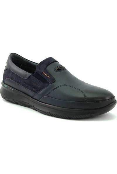 Forelli 45915 Erkek Lacivert Deri Comfort Ayakkabı