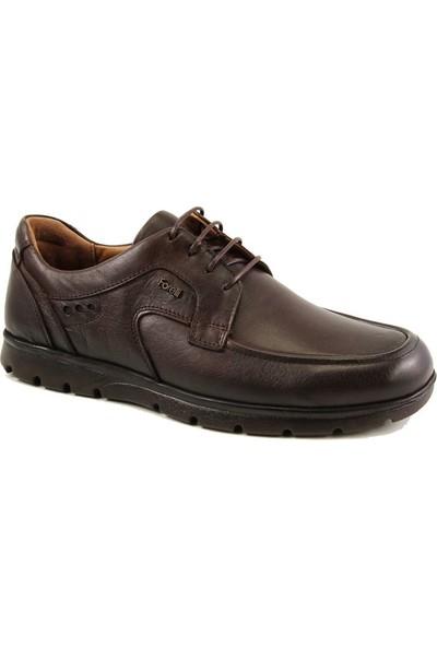 Forelli 32614 Erkek Kahve Deri Comfort Ayakkabı