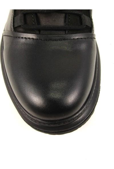 Forelli 36753 Erkek Siyah Deri Comfort Bot