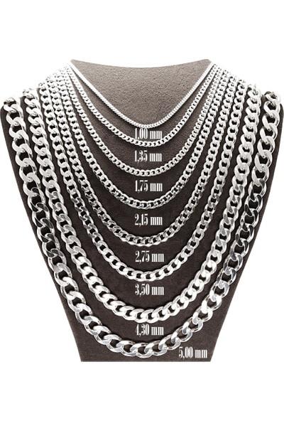 Ejoya Erkek Gümüş Sıkı Gurmet 1.75 mm Zincir Kolye 84673
