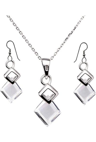 Ejoya Zircone Taşlı Gümüş Takım UCLRT335
