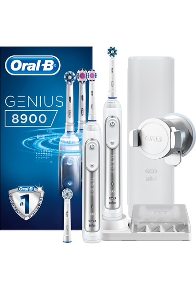 Oral-B Genius 8900 2'li Avantaj Paketi Şarj Edilebilir Diş Fırçası