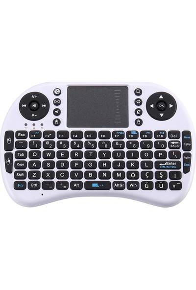 Gomax Kablosuz Bluetooth Mini Türkçe Klavye Mouse Smart Tv Box - Beyaz