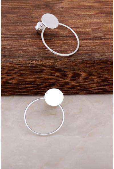 Sümer Telkari Halka Tasarım Gümüş Halka Küpe 4573