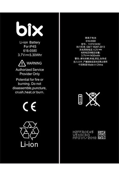 Bix Apple iPhone 4s 1430 mAh Batarya Pil