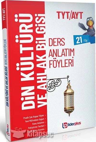 Lider Yayınları 2020 TAYT / TYT Din Kült. Ders Anlatım Föyü