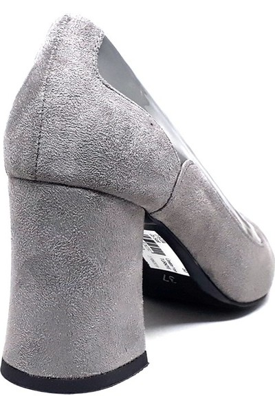 Mole 018-034 Kadın Ayakkabı Gri Süet