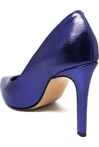 Shop And Shoes 028-010 Kadın Ayakkabı Mor Kırışık