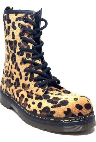 Shop And Shoes 038-10 Kadın Bot Leopar