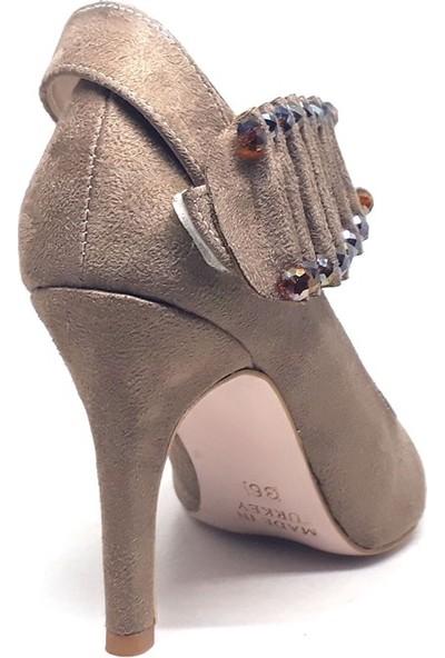 Mole 052-929 Kadın Ayakkabı Vizon Süet