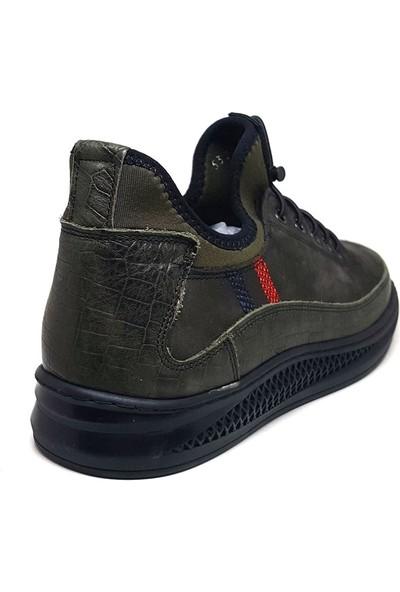 Shop And Shoes 093-5322-T Erkek Bot Yeşil