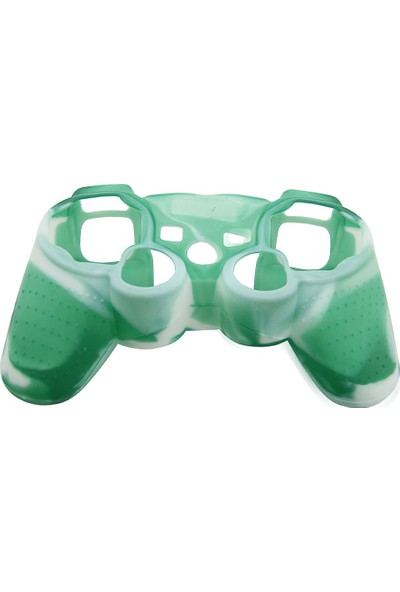 Dobe Sony PS3 Joystick Dualshock 3 Silikon Kılıf Kamuflaj Beyaz Yeşil