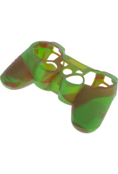 Dobe Sony PS3 Joystick Dualshock 3 Silikon Kılıf Kamuflaj Yeşil Kahve