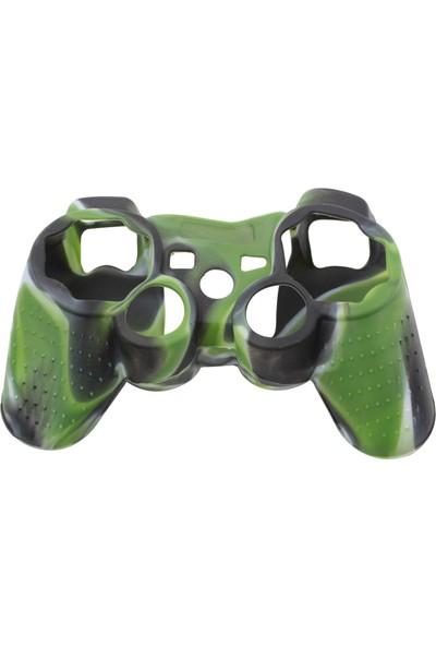 Dobe Sony PS3 Joystick Dualshock 3 Silikon Kılıf Kamuflaj Yeşil Siyah