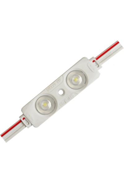 Ikili Mercekli Kısa Modül LED 12V - 10 Adet
