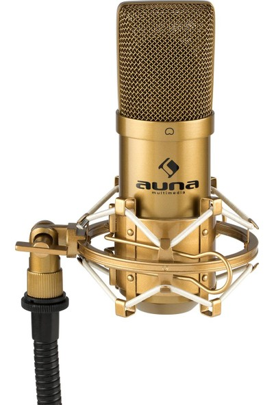 Auna Profesyonel Stüdyo Kondenser Mikrofon USB Altın