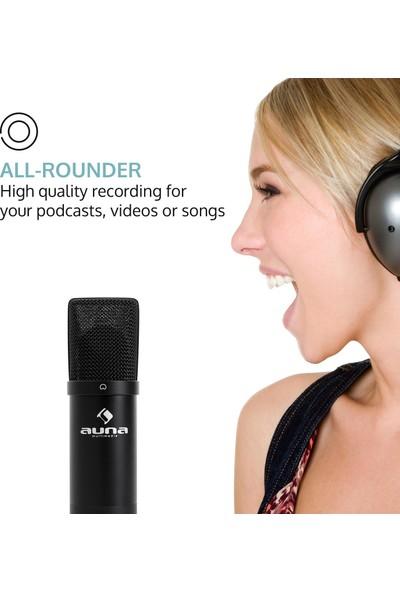 Auna Profesyonel Stüdyo Kondenser Mikrofon USB Siyah