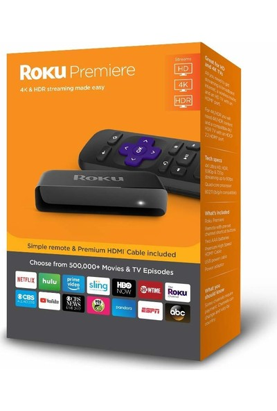 Roku 3920R Premiere 4K Ultra HD - HDR Streaming Media Player Device