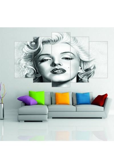 Dekorvia Marilyn Monroe 10 - 5 Parçalı MDF Tablo 100 x 60 cm