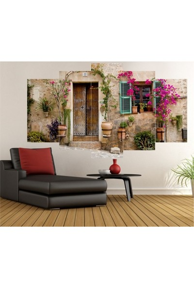 Dekorvia Dekoratif Görsel 17 - 5 Parçalı MDF Tablo 100 x 60 cm