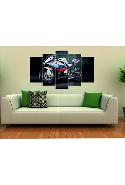 Dekorvia Motosiklet - 5 Parçalı MDF Tablo 100 x 60 cm