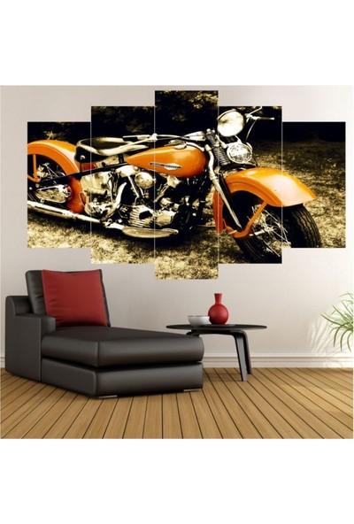 Dekorvia Harley Motor - 5 Parçalı MDF Tablo 100 x 60 cm