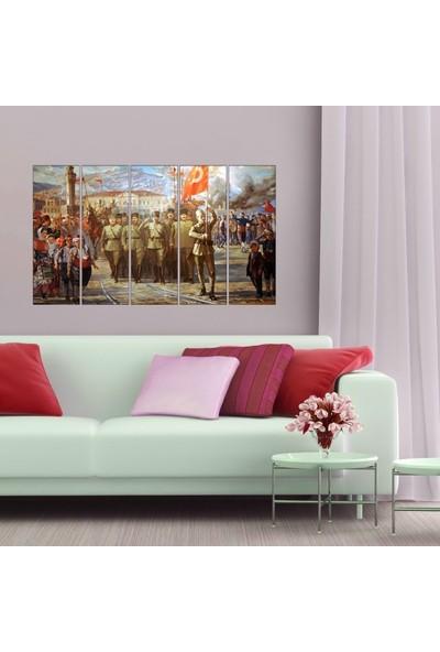 Dekorvia Atatürk Savaş - 5 Parçalı MDF Tablo 100 x 60 cm