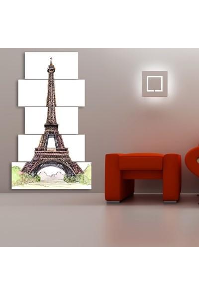 Dekorvia Eyfel 15 - 5 Parçalı MDF Tablo 100 x 60 cm