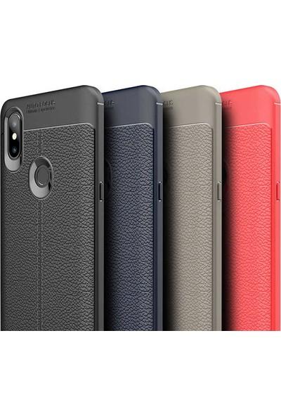 89 Go Xiaomi Mi 5x Deri Fiss Silikon Kılıf Kırmızı
