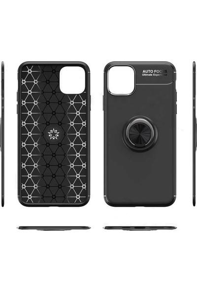 Efsunkar Xiaomi Mi 9 SE Yüzüklü Bovvel Silikon Kılıf Siyah Mavi