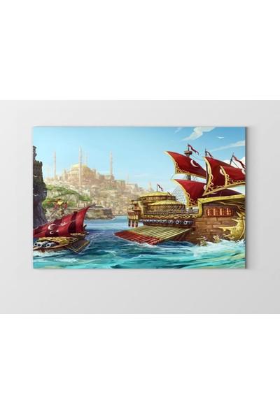Tablo Denizi İstanbul ve Yelkenli Gemi Tablosu