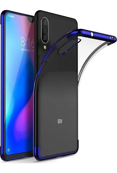 Teleplus Xiaomi Mi9 Lite Lazer Silikon Kılıf Mavi + Nano Ekran Koruyucu