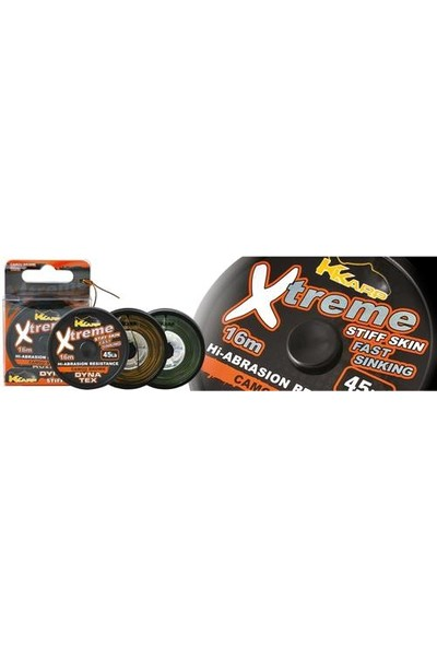 K-Karp Extreme Stiff Camo Brown 16M Leader Misina